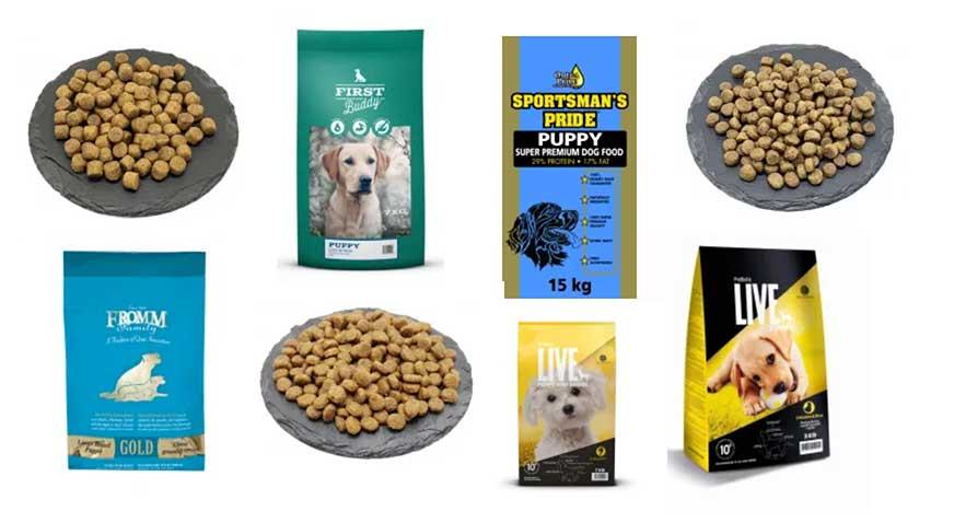 bedste hundefoder til hvalpe  - mærker og produkter
